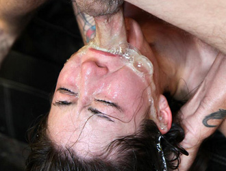 Asian whore Mayli gets a cock down her throat on FaceFucking.com